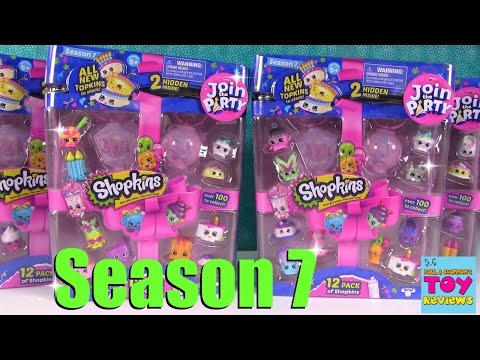 SEASON 7 Shopkins Topkins Party 12 Pack Blind Bag Opening Toy Review | PSToyReviews
