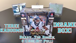 2018 Panini Select Football FOTL Hobby Box Break - INSANE BOX! THREE KABOOMS!!! MUST WATCH!