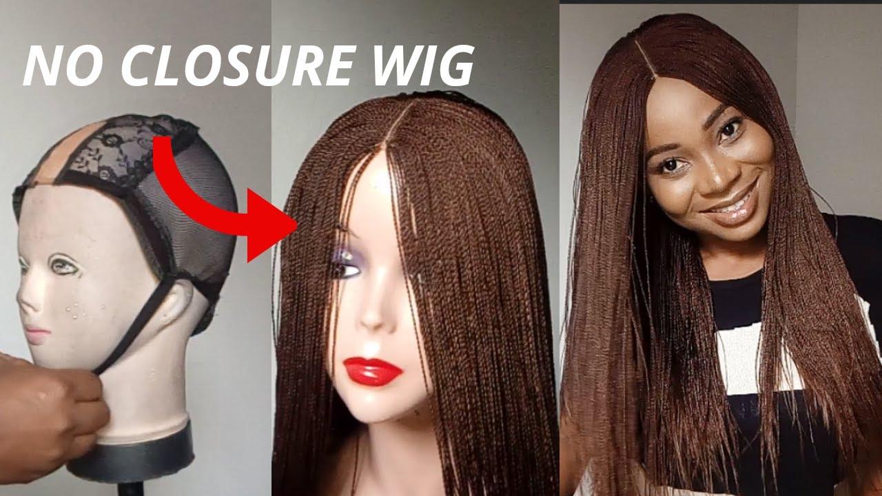 Download BRAIDED WIG USING EXPRESSION BRAID EXTENSION/Twist Braided Wig /No Lace Closure Wig