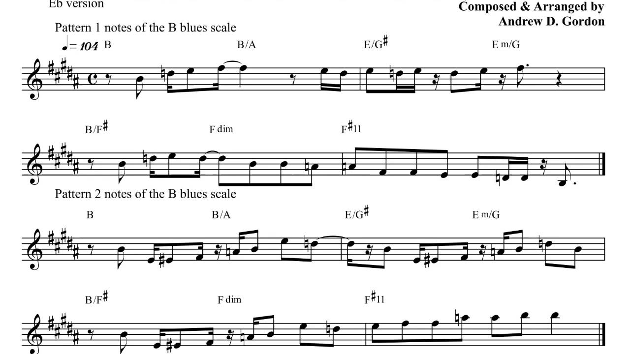 Gospel Riffs From The Book The Blues Scale For Alto Eb Sax Youtube