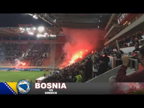 Greece vs Bosnia Pyro Show/Fight 13/11/16