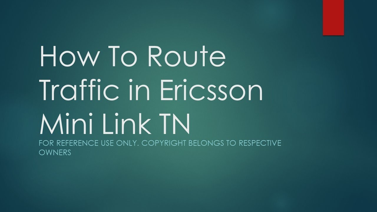 How to route traffic in ericsson mini link tn from ltu to mmu using ericsson mini link craft