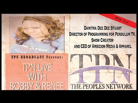 May 3rd Damitra Stuart (Director of Programming for Pendulum Tv)