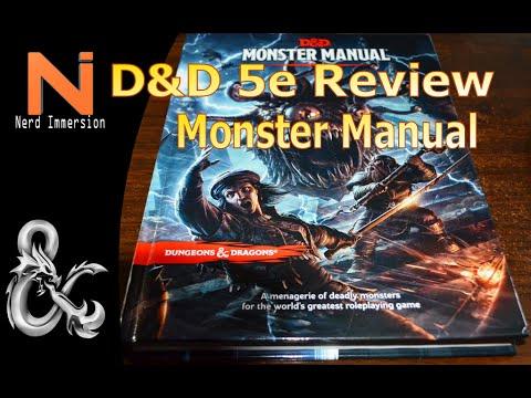 Du0026D 5e Monster Manual Review | Nerd Immersion