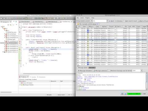 Integration of OtrosLogViewer with Eclipse - proof of concept - YouTube