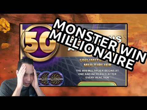 Monster win on Who wants to be a Millionaire - 50 spins Millionaire!