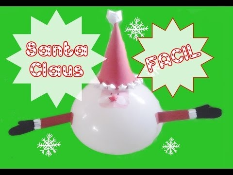 Decoracion navidad santa claus con un globo youtube - Decoracion de navidad con globos ...