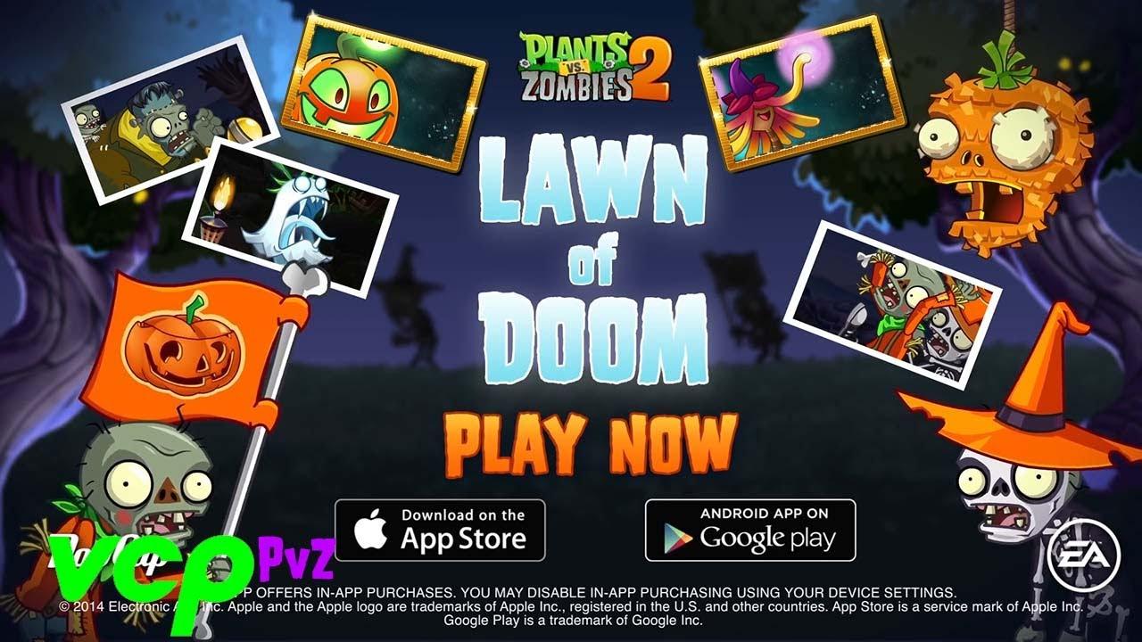 Plants vs. Zombies 2 17 fiestas de Halloween LAWN OF DOOM toda la compilación (18 Oct - 03 Nov 2020)