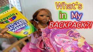 Silicone Baby Big Sister Reborn Kid Malia Shows What's in Her Backpack malia. 検索動画 30