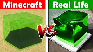 MINECRAFT SLIME BLOCK IN REAL LIFE! Minecraft vs Real Life animation