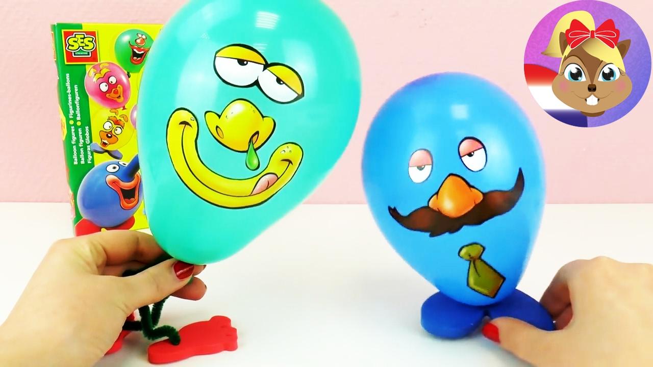 Ballon figuren zelf maken 2 grappige gezichtjes for Ballonnen decoratie zelf maken