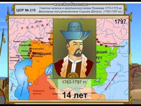 Восстание Казахов Под Руководством Сырыма Датулы