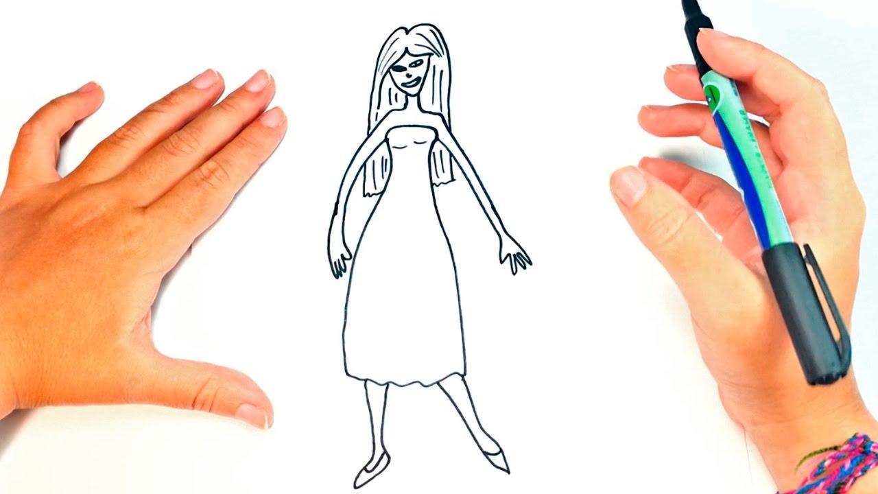 Cómo Dibujar Una Mujer Para Niños Dibujo De Mujer Paso A Paso