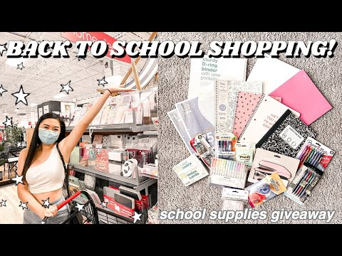 BACK TO SCHOOL SUPPLIES SHOPPING VLOG pt 2 + GIVEAWAY CLOSED 2020 from YouTube · Duration:  17 minutes 42 seconds