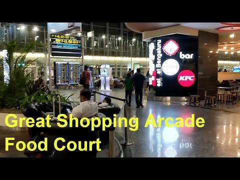 Walk through No.3 Airport in India Kempegowda International : Checkin Gates Amazing Shoppng Arcade