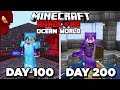 I Survived 200 Days in Hardcore Minecraft in an OCEAN ONLY World - PainDomination