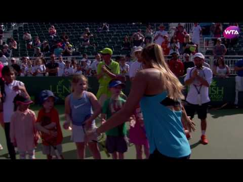 Miami Open Kids Day With Monica Puig
