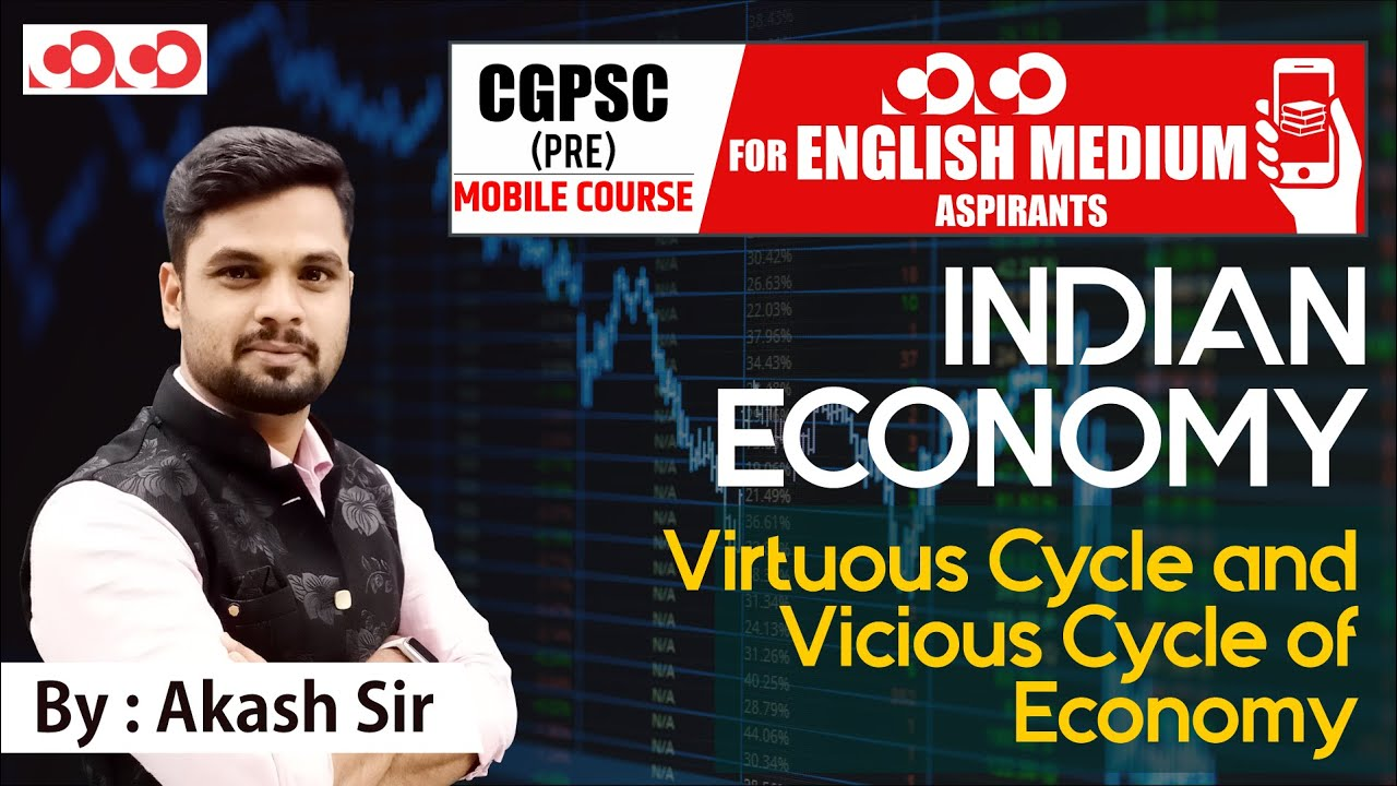 Virtuous Cycle and Vicious Cycle of Economy |  CGPSC Pre English Medium Mobile Course