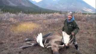 Monster Canada Bull Moose Over 60 Inches Lorne & Pat Garrett on their Yukon Moose Hunt