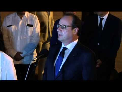 Hollande in Historic Visit to Cuba: French leader meets Cuban President Castro in Havana