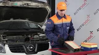 Cum schimbare Filtru aer NISSAN QASHQAI / QASHQAI +2 (J10, JJ10) - tutoriale video
