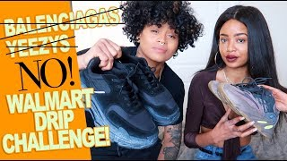 we tried to get fly clothes at walmart (THE WALMART DRIP LOOKBOOK CHALLENGE)