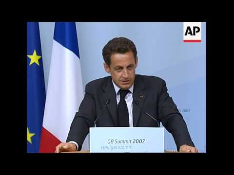 NEW French President Sarkozy gives presser, photo op with Putin