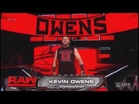 Kevin Owens entrance (Raw 2016-08-29)
