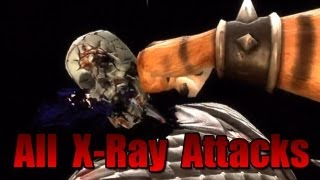 Mortal Kombat 9 All XRay Attacks + DLC + Bosses