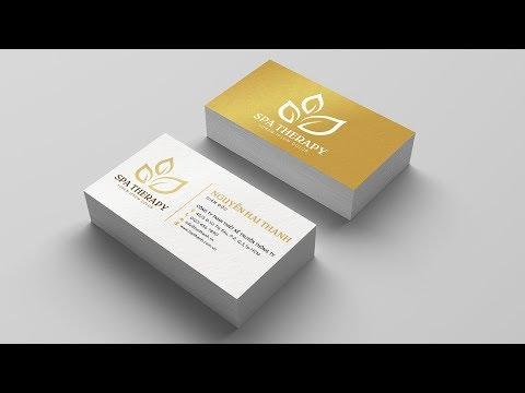 Name card Tutorial | Hướng dẫn thiết kế name card bằng Photoshop
