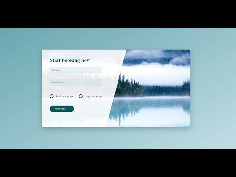 How To Create Html Css Only Booking Form Page Design Concept