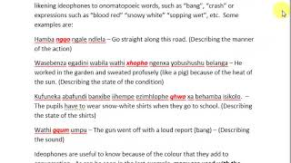 Simplified IsiXhosa Grammar. Using The Ideophone
