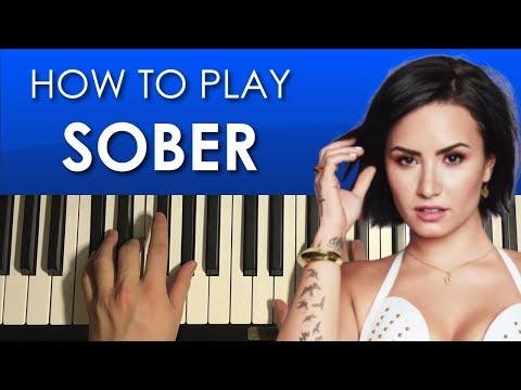 How To Play - Demi Lovato - Sober (PIANO TUTORIAL LESSON)