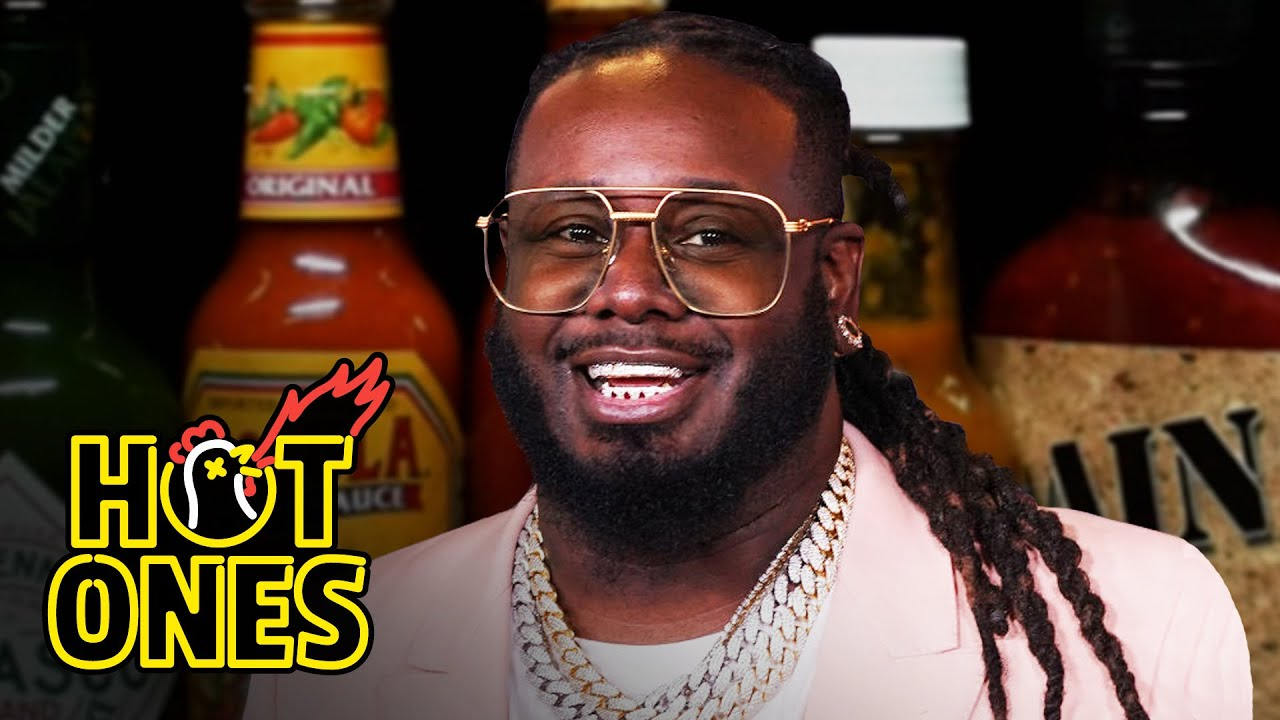 T-Pain Tastes Gas While Eating Spicy Wings   Hot Ones