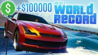 GTA Online: Double Comeback & World Record! - $100k Premium Stunt Race H200 (GTA 5 Cunning Stunts)