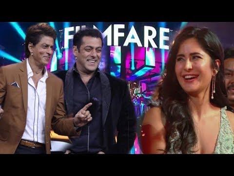 Salman Khan and Shahrukh Khan Makes Fun at Filmfare Awards 2019 | Katrina Kaif Enjoyed This Moments