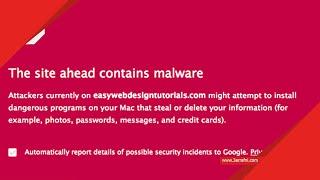 طريقة إيقاف متصفح جوجل كروم من حجب المواقع The site ahead contains harmful programs - عرفني دوت كوم
