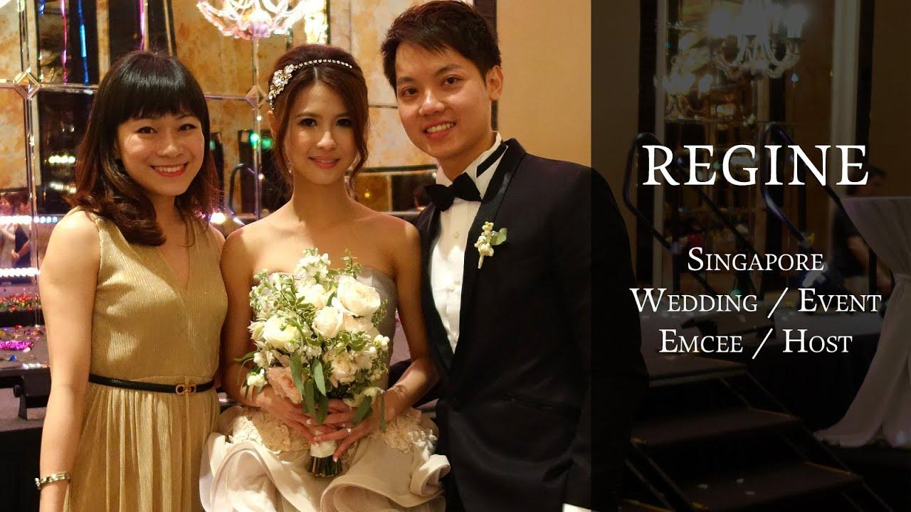 Singapore Bilingual Mandarin English Wedding Emcee Event Host At St Regis