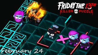 Friday the 13th: Killer Puzzle - Daily Death February 24 Walkthough (iOS, Android Gameplay)