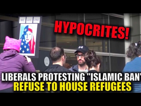 Refugee in House (Social Experiment) at Muslim Ban Protest - Travel Ban