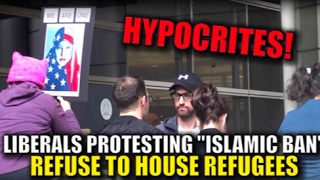 Refugee in House (Social Experiment) at Muslim Ban Protest