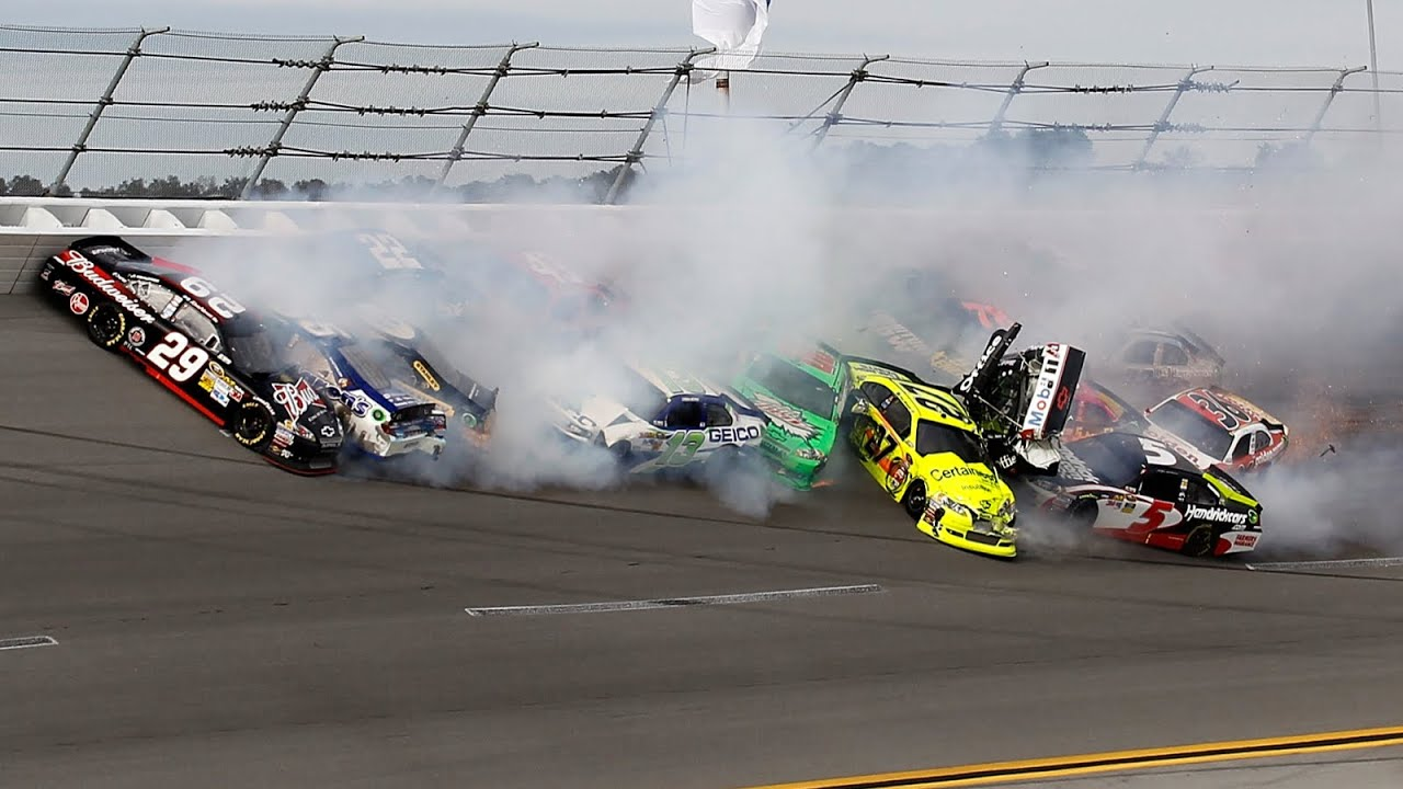 Mega Nascar Crash Compilation 100 Crashes Youtube