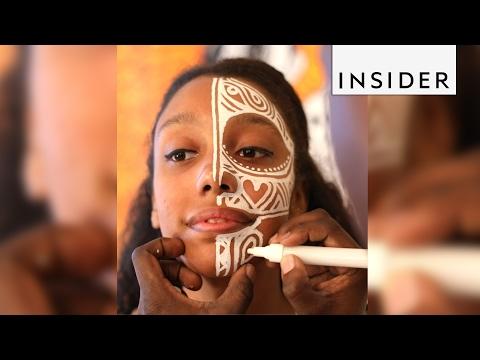 A Nigerian artist uses skin as a canvas
