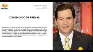 Televisa confirma la salida de Javier Alarcón