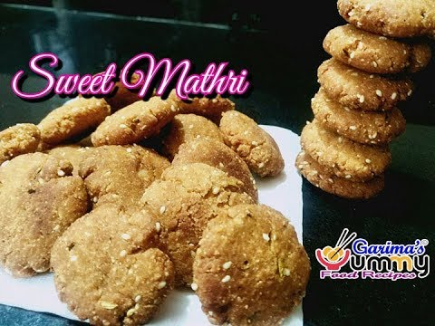 Baked sweet mathri recipes