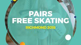 Mishina Anastasia / Galliamov Aleksandr (RUS) | Pairs Free Skating | Richmond 2018