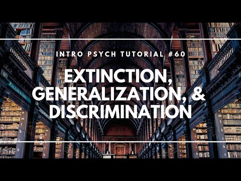Extinction, Generalization, & Discrimination (Intro Psych Tutorial #60)