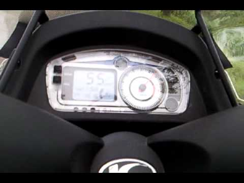 Sound of lv hm 4road exhaust on Kymco ND, to heavy roller waights.