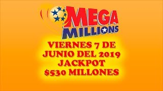 Gambar cover Resultados Mega MIllions 7 de Junio 2019 $530 Millones de dolares | Powerball en español