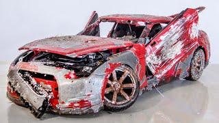 Restoration Abandoned Nissan GTR Tuning Model Car
